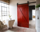 Vintage Industrial Spoked European Sliding Barn Door Closet Hardware set