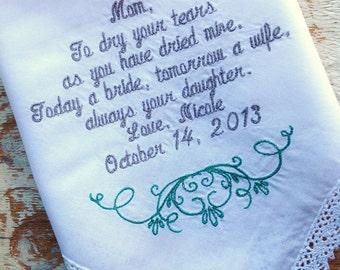 Mom wedding handkerchief