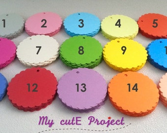 25 - Gift tags circle - Color of your choice