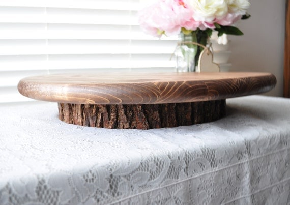 Rustic Wedding Wood Cake Stand: Round 18 Wooden Cake Or Cupcake Stand Rustic Wedding