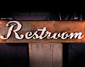 Marquee Sign, Lighted Metal MARQUEE SIGN, Marquee Light Fixture, Custom Marquee Sign, Restroom, Washroom Sign