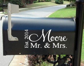Mailbox Decal * Mail Box*  Wedding * Custom *  Personalized