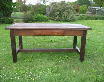 18th century old English style cottage table.