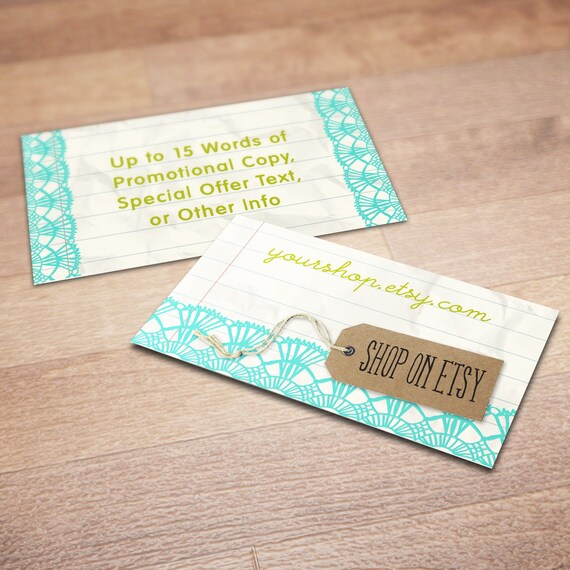 100 custom business cards for promoting your etsy shop tag for Etsy shop business cards