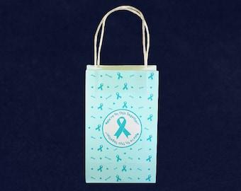 Teal Ribbon Gift Bag (RE-GBAG-3)