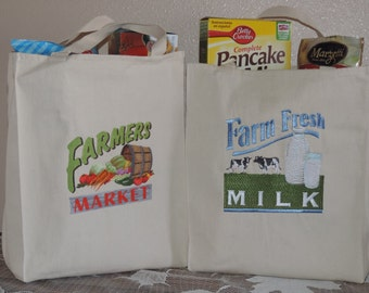 Custom Country Style Canvas Grocery Tote