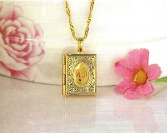 Allah pendant/Locket 18K Real yellow gold