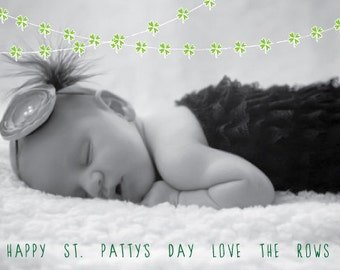 Clover St. Patrick's Day Photo Card