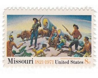 SALE - 25 Unused Vintage Postage Stamps - 1971 8c Missouri Statehood Stamps - Item No. 1426