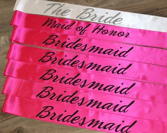 Bridal Shower Sash Bachelorette Party Set