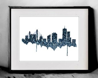 Boston Wall Art boston skyline print | etsy