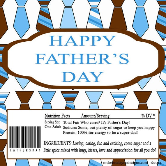 Father's Day Lots Of Ties Chocolate Candy Bar By PartiesR4Fun