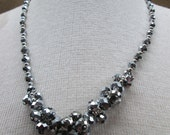 Silver Crystal Necklace 1970s