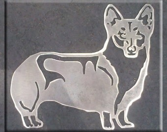 Corgi Dog Metal Art