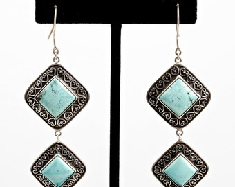Turquoise 106 - Earrings - Sterling Silver & Turquoise