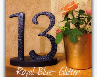 Glitter Table Number, Wedding Decoration, Wedding Signs, Wedding Reception Sign