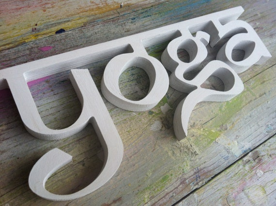 Sign Wooden Letters Pilates And Yoga Studio Decor Home Decor Wall