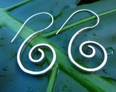 SIAM...Large Sterling Silver Spiral Earrings