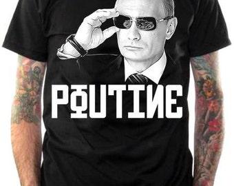 Vladimir Poutine T-Shirt - Putin vs Poutine
