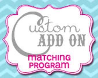 Matching Custom Program Card - Printable