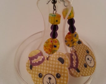 Kawaii Teddy Bear Earrings