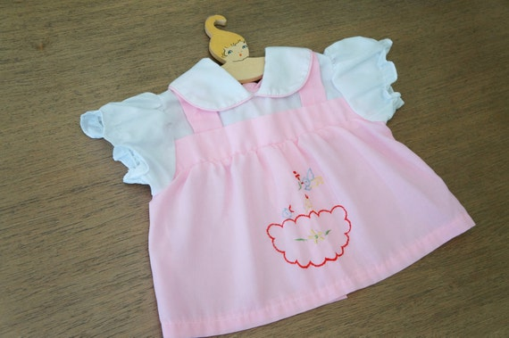 Vintage Baby Clothes 1960 s Baby Girl Pink by DearKaleidoscope