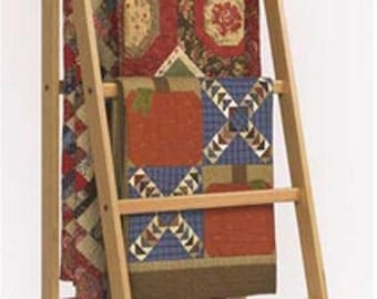 Solid Oak Ladder Quilt Rack