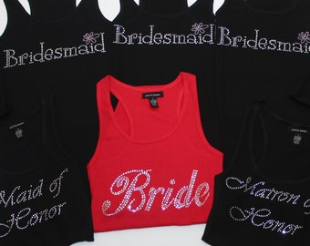Bride Tank Top (8) Bridal Tank Top - Bridesmaid Tank Top -Maid of Honor Tank Top