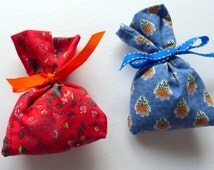 3 French Lavender Sachets with Colorful Provencal Souleido Pierre Deux Fabric Perfect Small Gift or Wedding Favors