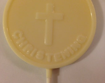 Christening Chocolate Lollipops