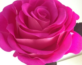 Giant paper rose - A Gorgeous Extra Large Crepe Paper Rose