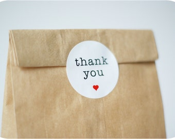 "12 Stickers Round ""Thank You"""