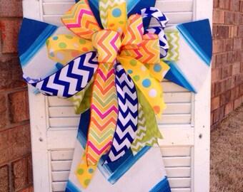 Cross with Beautiful Bow Door Hanger