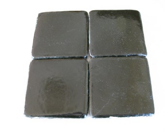 25-Lux Black Mexican Clay Tile 3.75 x 3.75 (Shipping Included)