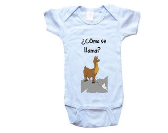 Baby One-Piece-Personalized Gifts- Como Se Llama? - CreativeIdeas&More Baby Designs - White, Blue or Pink One-Piece