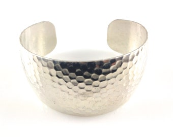 Silver Plated Hammered Cuff