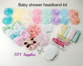 Baby shower headband kit - baby shower headband station kit - hair bow kit - headband kit - headband party kit - diy headband kit
