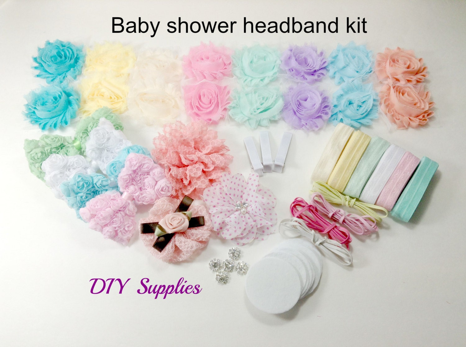 baby shower headband kit baby shower headband station kit. Black Bedroom Furniture Sets. Home Design Ideas