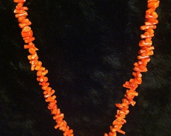 Red Coral necklace with Sterling Silver