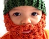Child Beard Beanie - Photo Prop - Crochet Beanie