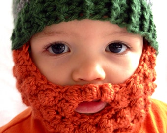 Child Beard Beanie - Photo Prop - Crochet Beanie