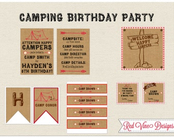 Camping Party Printables