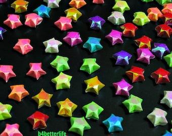 200pcs Tiny Origami Lucky Stars Hand-folded from 16.5cm x 0.8cm Paper Strips. (AV paper series).