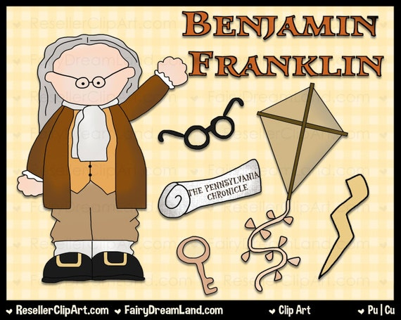 ... Clipart Set - Instant Download - Founding Father Scientist Inventor