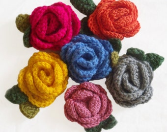 Handcrafted Vintage Style Crochet Rose Brooch