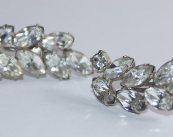 Faux Diamond Earrings in mint condition from the 50's