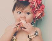 Princess Peach Party TRIPLE Flower Headband