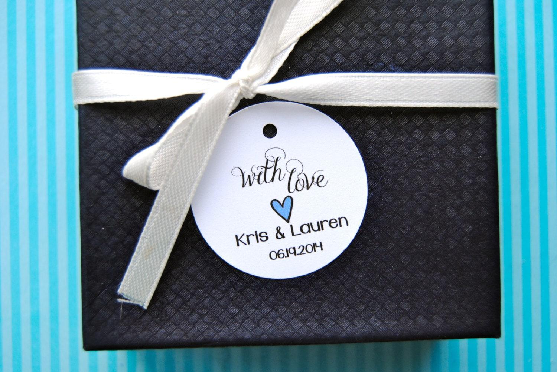 Round Wedding Gift Tags : Custom Wedding Favor Tags Round Favor Tags Favor by CraftsForAbby