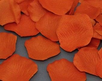 200 Burnt Orange Silk Flower Wedding Petals