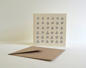 Letterpress Card: Sail With The Stars
